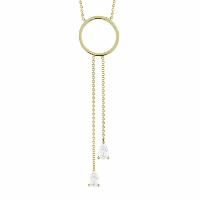 Κολιέ Με Πέτρες Από Κίτρινο Χρυσό Κ9 KL92307