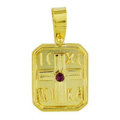 Κωνσταντινάτο Από Δίχρωμο Χρυσό Κ9 KN271