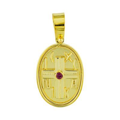 Κωνσταντινάτο Από Κίτρινο Χρυσό Κ14 KN272