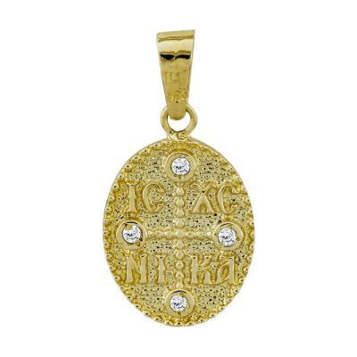 Κωνσταντινάτο Από Κίτρινο Χρυσό Κ14 KN278