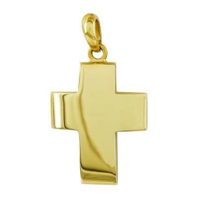 Σταυρός Βάπτισης Aνδρικός Σε Κίτρινο Χρυσό 18 Καρατίων ST2648