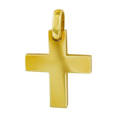 Σταυρός Βάπτισης Aνδρικός Σε Κίτρινο Χρυσό 18 Καρατίων ST2647