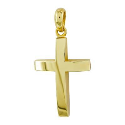 Σταυρός Βάπτισης Aνδρικός Σε Κίτρινο Χρυσό 18 Καρατίων ST2650