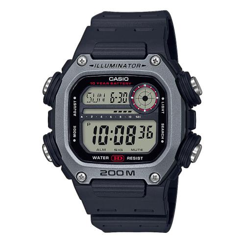 CASIO Collection Black Rubber Strap DW-291H-1AVEF