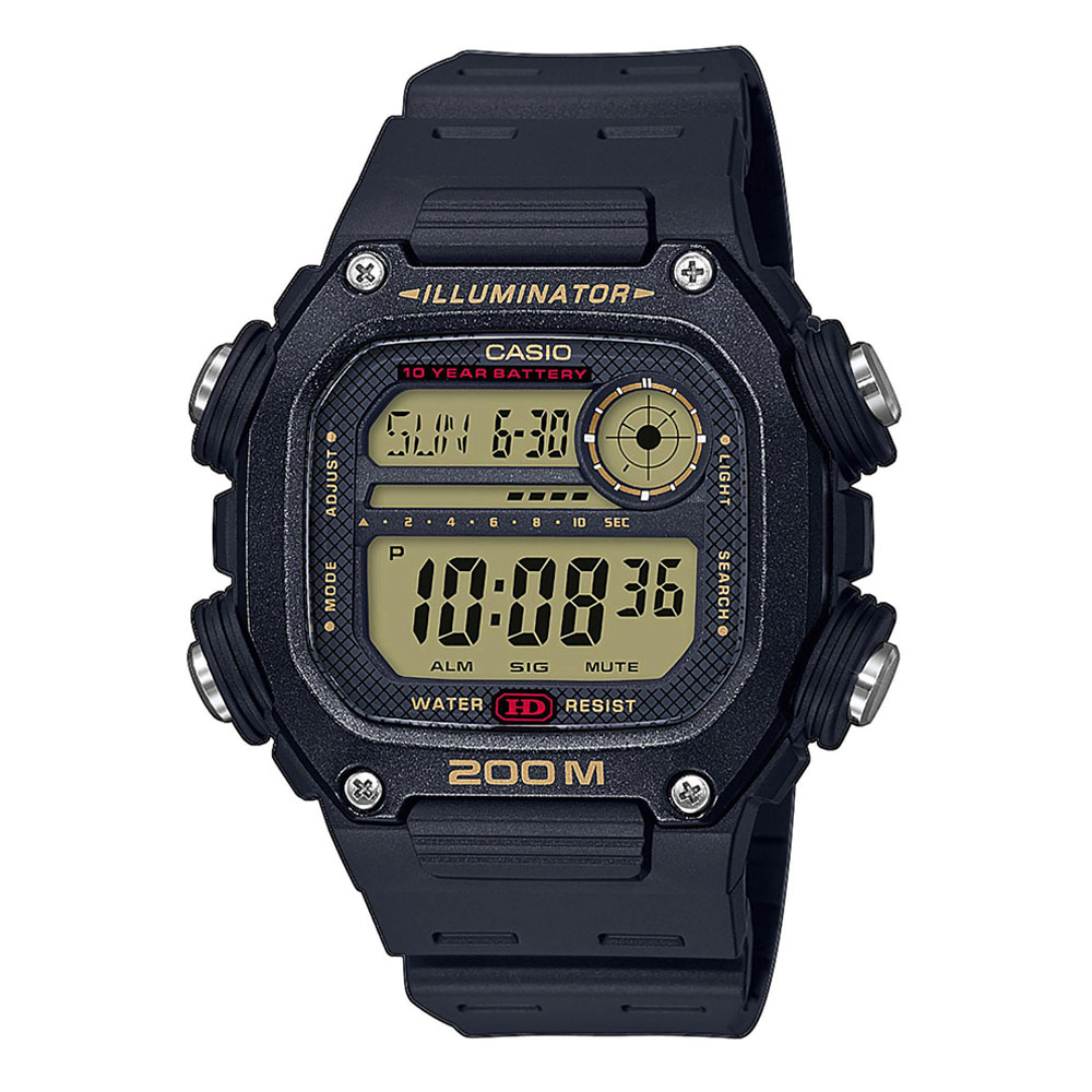 CASIO Collection Black Rubber Strap DW-291H-9AVEF