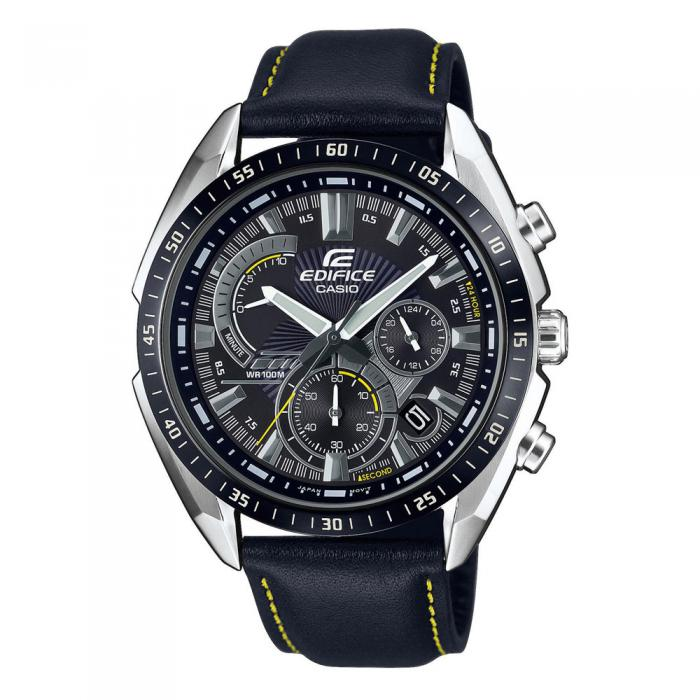 CASIO Edifice Black Leather Cronograph EFR-570BL-1AVUEF