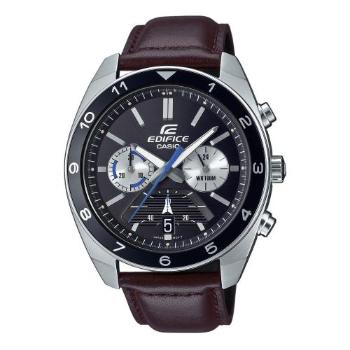 CASIO Edifice Brown Leather Cronograph EFV-590L-1AVUEF