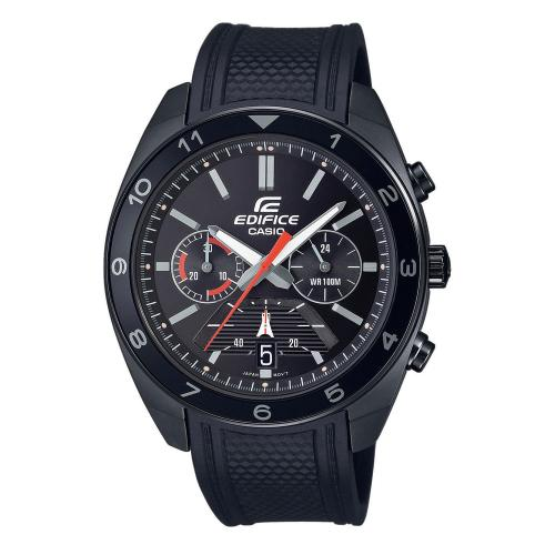 CASIO Edifice Black Rubber Cronograph EFV-590PB-1AVUEF