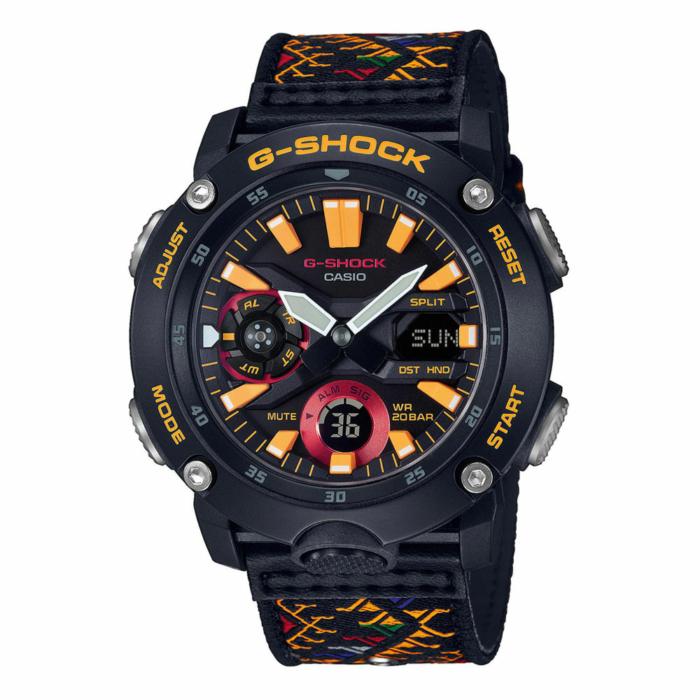 CASIO G-Shock Special Edition Bhutan Box Set Multicolor Fabric Strap GA-2000BT-1AER