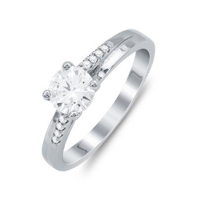 Δαχτυλίδι Μονόπετρο Mε Πέτρες Από Ασήμι DX819