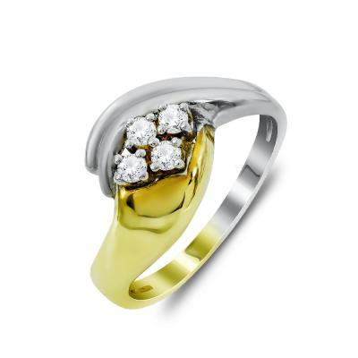 Δαχτυλίδι Με Διαμάντια Brilliant Aπό Δίχρωμο Χρυσό Κ18 DDX279