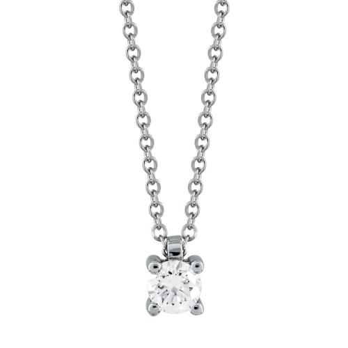 Μενταγιόν Με Διαμάντια Βrilliant Από Λευκό Χρυσό Κ18 M533