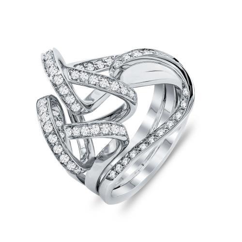 Δαχτυλίδι Με Διαμάντια Brilliant Aπό Λευκό Χρυσό Κ18 D23070