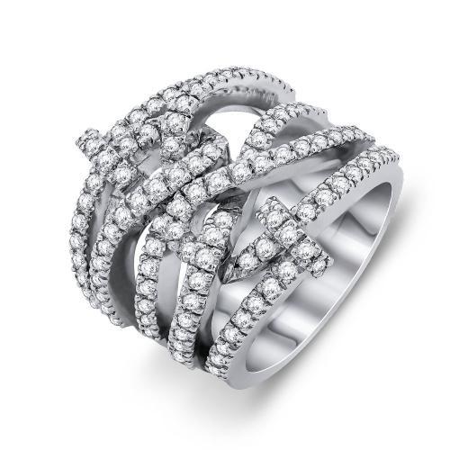 Δαχτυλίδι Με Διαμάντια Brilliant Aπό Λευκό Xρυσό Κ18 D25207