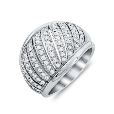 Δαχτυλίδι Με Διαμάντια Brilliant Aπό Λευκό Xρυσό Κ18 DDX278