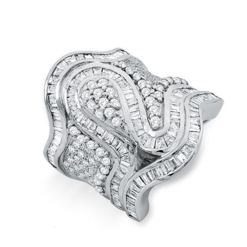 Δαχτυλίδι Με Διαμάντια Brilliant Aπό Λευκό Χρυσό Κ18 DDX282