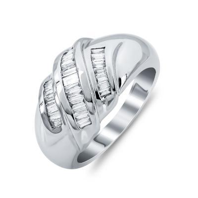 Δαχτυλίδι Με Διαμάντια Brilliant Aπό Λευκό Xρυσό Κ18 DDX283