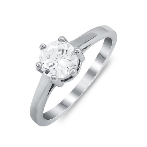 Δαχτυλίδι Μονόπετρο Mε Πέτρες Από Ασήμι DX817