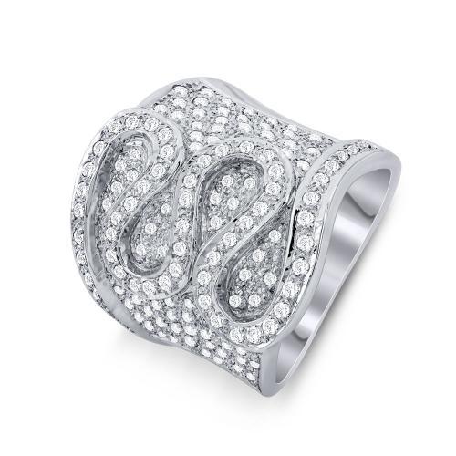 Δαχτυλίδι Με Διαμάντια Brilliant Aπό Λευκό Χρυσό Κ18 D17017