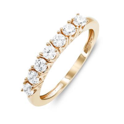 Δαχτυλίδι Σειρέ Mε Πέτρες Από Ροζ Χρυσό K14 DX813