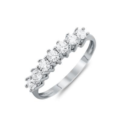 Δαχτυλίδι Σειρέ Από Λευκό Χρυσό Κ14 DX810