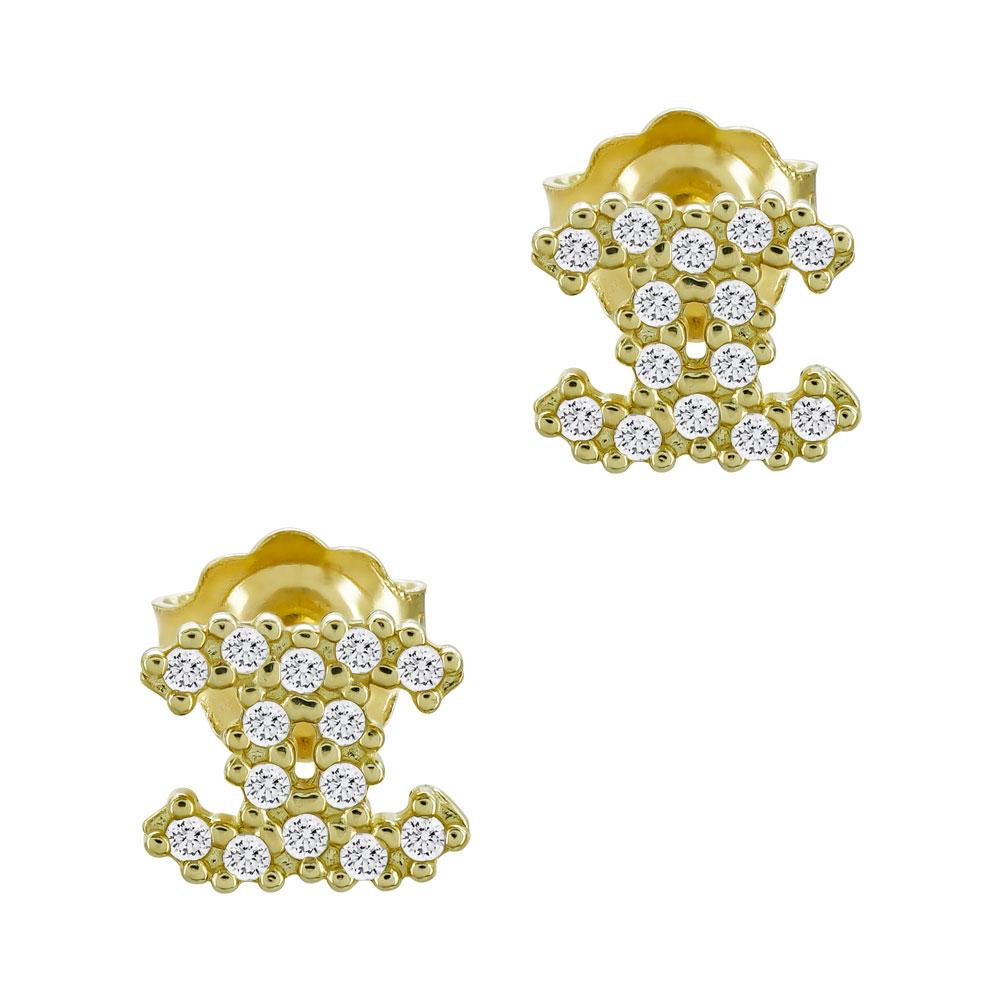 Σκουλαρίκια Από Κίτρινο Χρυσό Κ14 SK1081