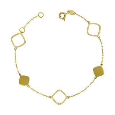 Βραχιόλι Από Κίτρινο Χρυσό Κ9 VR704