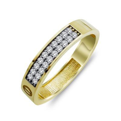 Δαχτυλίδι Mε Πέτρες Από Κίτρινο Χρυσό K14 DX00821