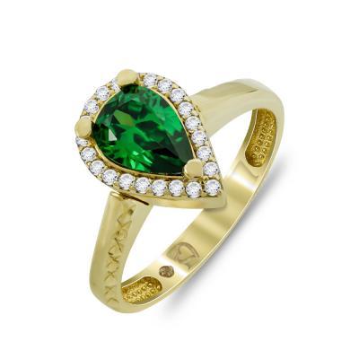 Δαχτυλίδι Μονόπετρο Από Κίτρινο Χρυσό K14 DX00203