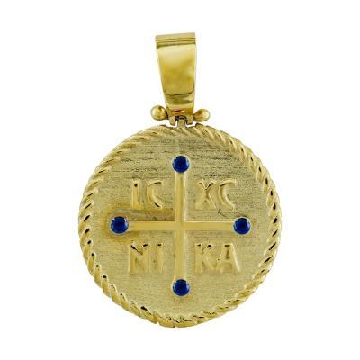 Κωνσταντινάτο Από Κίτρινο Χρυσό Κ9 KN268