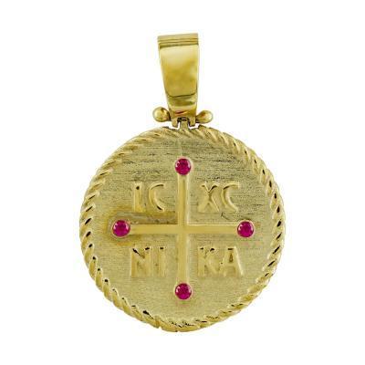 Κωνσταντινάτο Από Κίτρινο Χρυσό Κ9 KN267