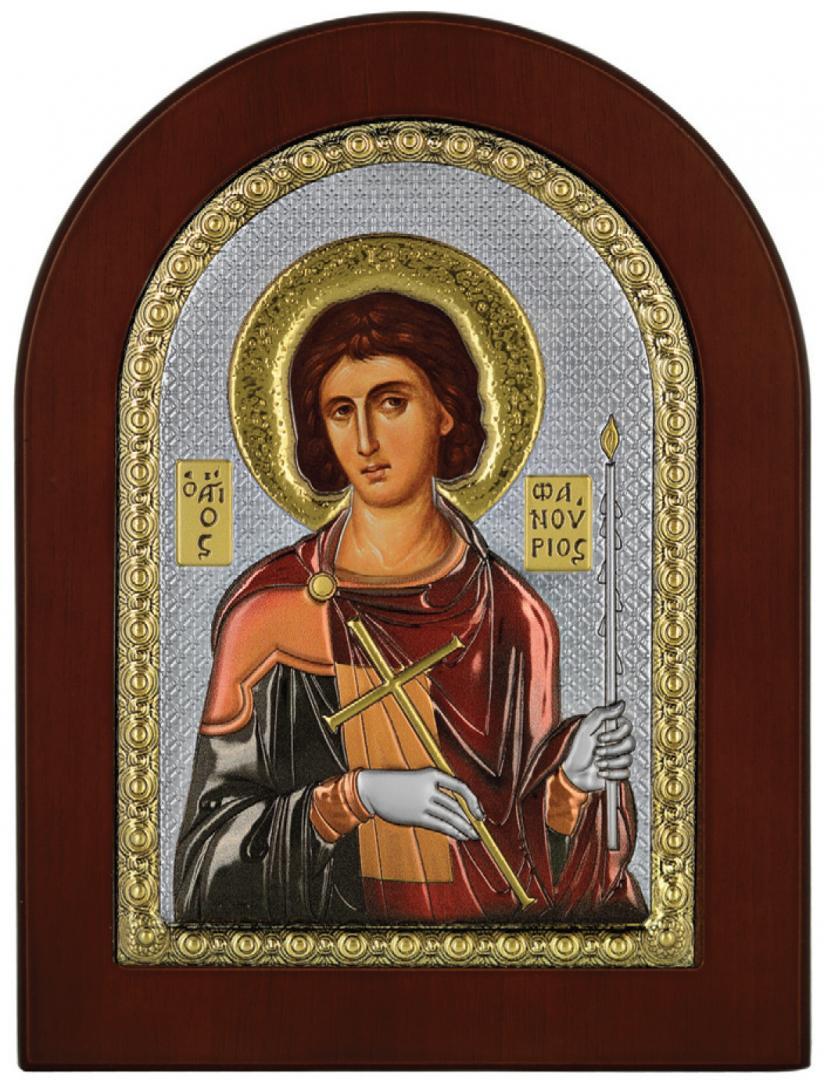 Ασημένια Εικόνα του Αγίου Φανουρίου MA-E1139-X-C