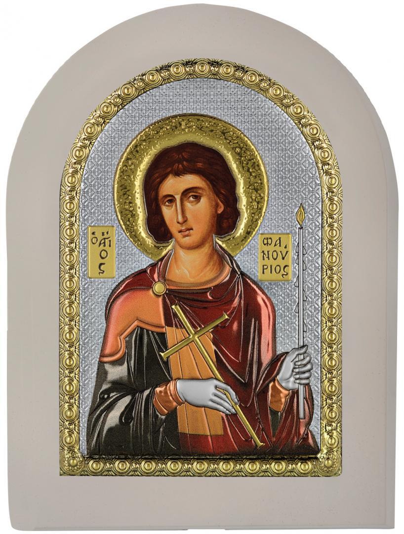 Ασημένια Εικόνα του Αγίου Φανουρίου MA-E1139-X-WC
