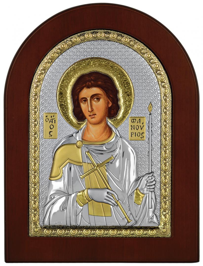 Ασημένια Εικόνα του Αγίου Φανουρίου MA-E1139-X