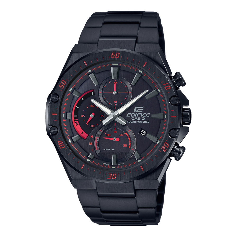 CASIO Edifice Solar Black Stainless Steel Bracelet EFS-S560DC-1AVUEF