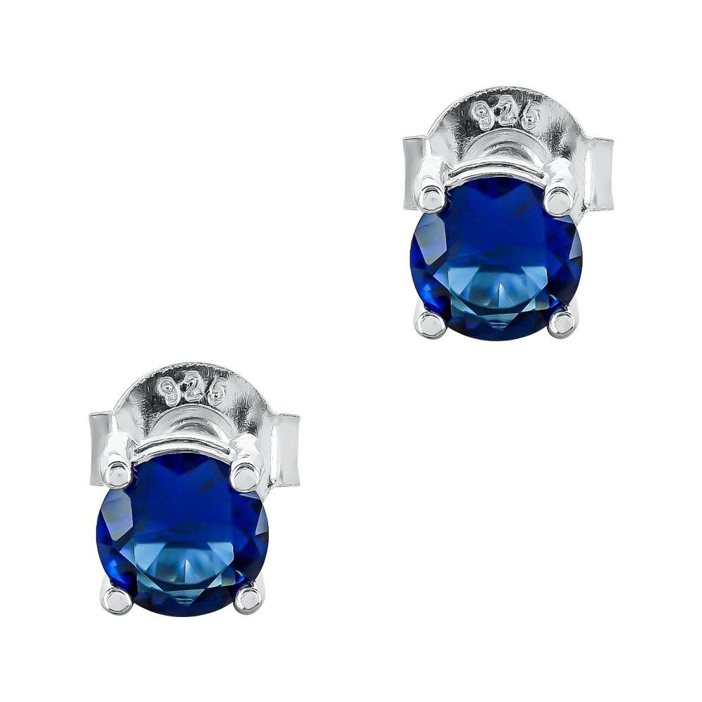 Σκουλαρίκια Με Μπλε Πέτρες Από Ασήμι SK1106
