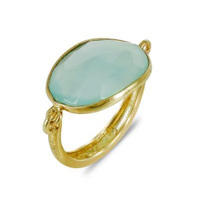 Gregio Επιχρυσωμένο Ασημένιο Δαχτυλίδι 23196