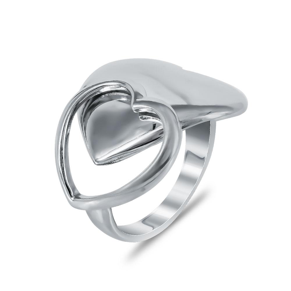 Δαχτυλίδι με Καρδιές από Ασήμι DX697