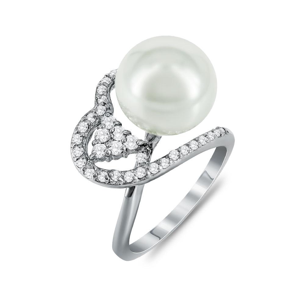 Jools Δαχτυλίδι Με Μαργαριτάρι από Ασήμι DX686