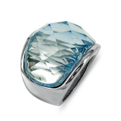 Δαχτυλίδι Με Γαλάζια Πέτρα από Ατσάλι DX693