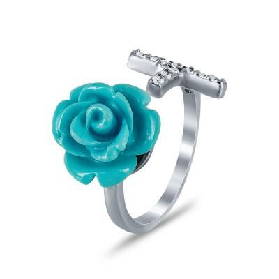 Jools Σεβαλιέ Δαχτυλίδι Με Λουλούδι από Ασήμι DX705