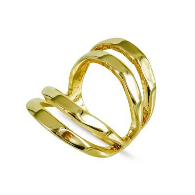 Δαχτυλίδι από Επιχρυσωμένο Ασήμι DX689