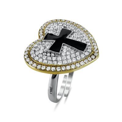 Jools Δαχτυλίδι Καρδούλα από Ασήμι JR303