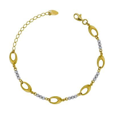 Bραχιόλι από Δίχρωμο Χρυσό Κ14 VR786