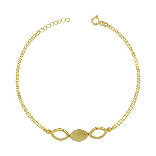 Bραχιόλι από Kίτρινο Χρυσό Κ14 VR783