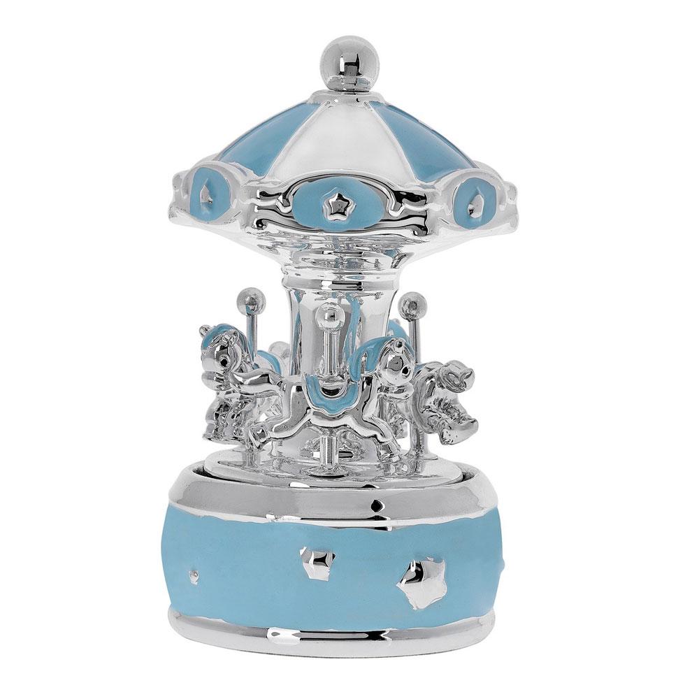 Princelino Γαλάζιο Πήλινο Κουρδιστό Carousel Mε Μουσική Για Αγόρι EZ/CA1909-C