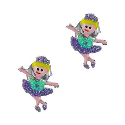 Παιδικά Σκουλαρίκια Μπαλαρίνες Aπό Ασήμι PSK441