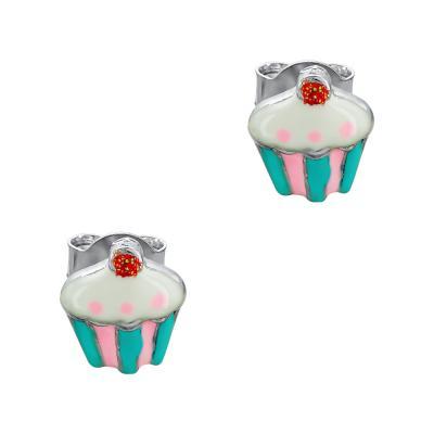 Παιδικά Σκουλαρίκια Παγωτό Aπό Ασήμι PSK443