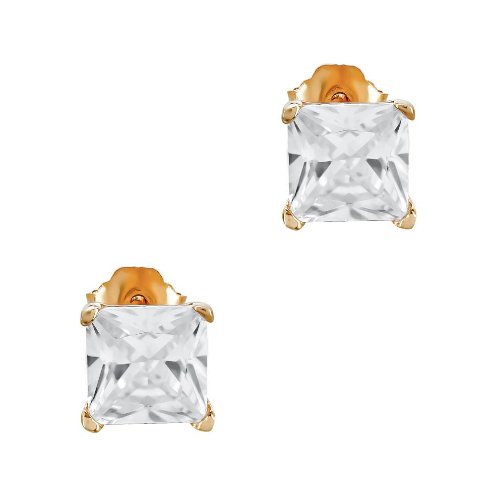 Σκουλαρίκια με Πετρούλες Από Ροζ Επιχρυσωμένο Ασήμι SK1154