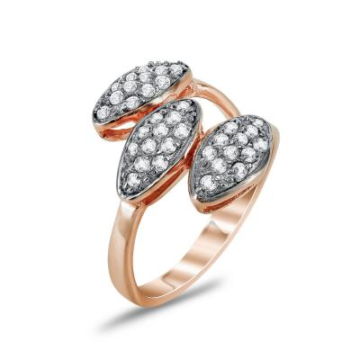 Jools Δαχτυλίδι από Ροζ Επιχρυσωμένο Ασήμι TR906409